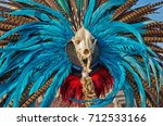 traditional aztec decorations.... | Shutterstock . vector #712533166