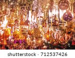 christmas decorations on the...   Shutterstock . vector #712537426