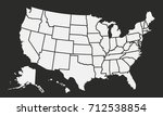 usa map isolated on a black...
