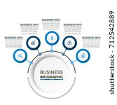 business infographic elements | Shutterstock .eps vector #712542889