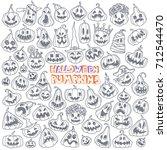 jack o' lantern. halloween... | Shutterstock .eps vector #712544470