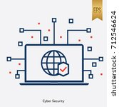 world security global and... | Shutterstock .eps vector #712546624