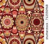 seamless pattern. vintage... | Shutterstock .eps vector #712550968