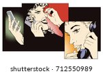 stock illustration. people in... | Shutterstock .eps vector #712550989