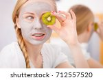 facial dry skin and body care ... | Shutterstock . vector #712557520