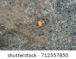 aerial view of landfill. waste  ... | Shutterstock . vector #712557850