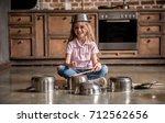 Cute Little Girl Is Using...