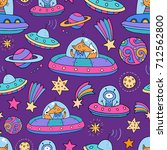 seamless pattern with... | Shutterstock .eps vector #712562800