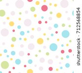 colorful polka dots seamless... | Shutterstock .eps vector #712568854