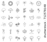seed icons set. outline style... | Shutterstock .eps vector #712578148