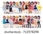 varied female fashion avatar.... | Shutterstock .eps vector #712578298