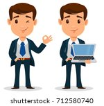 set of business man cartoon... | Shutterstock .eps vector #712580740