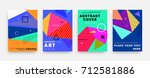 covers templates set with... | Shutterstock .eps vector #712581886