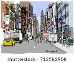 colorful vector illustration of ... | Shutterstock .eps vector #712583908