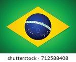 official flag of brazil. vector ... | Shutterstock .eps vector #712588408