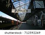 on the platform of dunedin's... | Shutterstock . vector #712592269