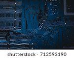 circuit board. electronic... | Shutterstock . vector #712593190