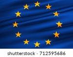 eu flag  euro flag  flag of... | Shutterstock . vector #712595686