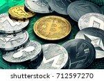 huge stack of cryptocurrencies...
