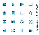 media colorful icons set....   Shutterstock .eps vector #712598479
