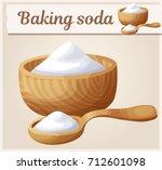 baking soda. detailed vector... | Shutterstock .eps vector #712601098