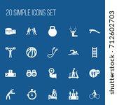 set of 20 editable fitness...