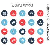 set of 20 editable casino icons....