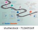 business road map timeline... | Shutterstock .eps vector #712605169