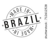 made in brazil stamp logo icon... | Shutterstock .eps vector #712612528
