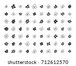 set of hand drawn floral... | Shutterstock .eps vector #712612570