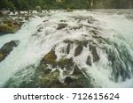 the biggest waterfall   rhine... | Shutterstock . vector #712615624