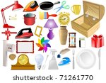 set of of home objects. vector   Shutterstock .eps vector #71261770
