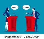 successful. business person a... | Shutterstock .eps vector #712620934