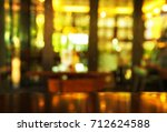 blur bar and club with table... | Shutterstock . vector #712624588