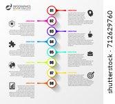 timeline infographic template.... | Shutterstock .eps vector #712629760