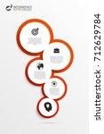 business infographics. modern... | Shutterstock .eps vector #712629784