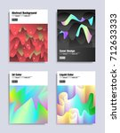 abstract covers design set.... | Shutterstock .eps vector #712633333