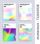 abstract covers design set.... | Shutterstock .eps vector #712633528