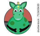 dragon icon avatar. vector...