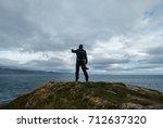 photographer is taking selfie...   Shutterstock . vector #712637320