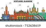 Scotland  Glasgow. City Skylin...
