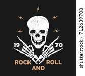 rock n roll music grunge... | Shutterstock .eps vector #712639708