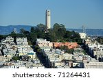 Coit Tower And The Bay Bridge...