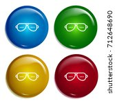 sunglasses multi color gradient ...