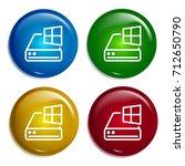 hard drive multi color gradient ...