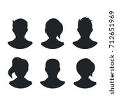 people silhouettes set. black... | Shutterstock .eps vector #712651969