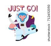 cute animal series. space... | Shutterstock .eps vector #712652050