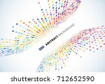 abstract colorful halftone... | Shutterstock .eps vector #712652590