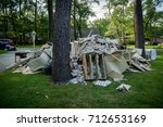 a pile of trash from a home... | Shutterstock . vector #712653169