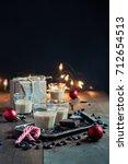 homemade baileys or coffee... | Shutterstock . vector #712654513